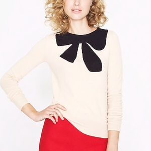 JCrew Sweater with black bow. Large